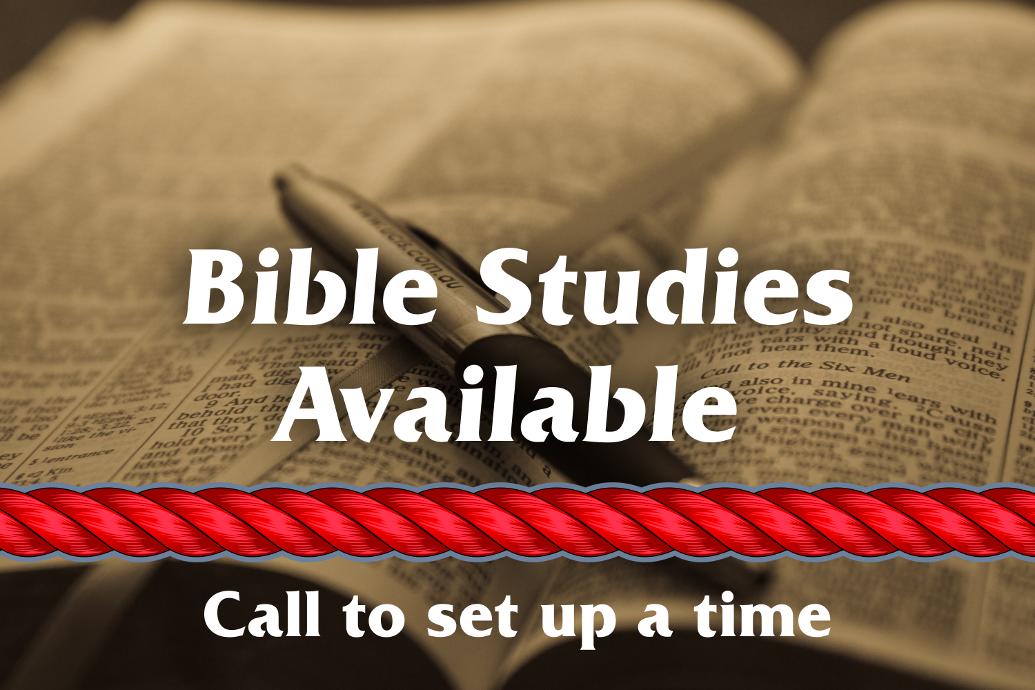 Bible Study Available